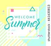 hand drawn lettering summer... | Shutterstock .eps vector #661630813