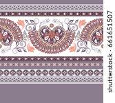geometric ornament for weaving  ... | Shutterstock .eps vector #661651507