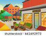 a vector illustration of... | Shutterstock .eps vector #661692973