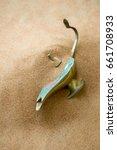 antique aladdin lamp buried un... | Shutterstock . vector #661708933