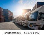 truck   freight transportation... | Shutterstock . vector #661711447