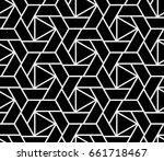 abstract geometric pattern with ... | Shutterstock . vector #661718467