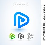 play letter p icon. music and... | Shutterstock .eps vector #661738633
