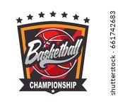 basketball logo  american logo... | Shutterstock .eps vector #661742683