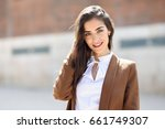 young woman with nice hair... | Shutterstock . vector #661749307