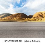 empty asphalt road with the... | Shutterstock . vector #661752133