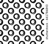 vector seamless pattern with... | Shutterstock .eps vector #661786843