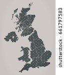 united kingdom map with stars... | Shutterstock . vector #661797583