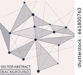 geometric background. internet... | Shutterstock .eps vector #661800763