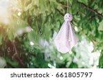 chasing rain doll hanging on...   Shutterstock . vector #661805797