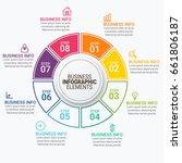 modern infographic timeline... | Shutterstock .eps vector #661806187
