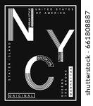 new york brooklyn sport wear... | Shutterstock .eps vector #661808887