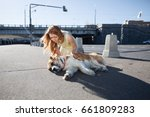 a shooting shot. accident on a... | Shutterstock . vector #661809283