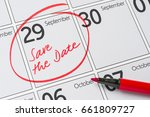 save the date written on a...   Shutterstock . vector #661809727