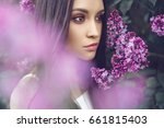 outdoor fashion photo of... | Shutterstock . vector #661815403