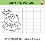 funny frog. copy the picture.... | Shutterstock .eps vector #661854133