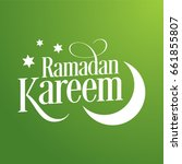 """ramadan kareem"" green...   Shutterstock .eps vector #661855807"