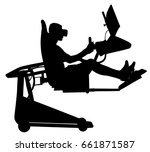 gamer boy wearing virtual... | Shutterstock .eps vector #661871587