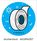 adhesive tape fcon. | Shutterstock .eps vector #661896307