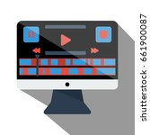 vector image of monitor with... | Shutterstock .eps vector #661900087