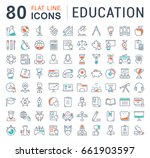 set of line icons in flat... | Shutterstock . vector #661903597