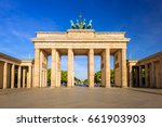 The Brandenburg Gate In Berlin...