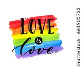 love is love   lgbt pride... | Shutterstock .eps vector #661905733