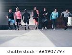 full length view of runners... | Shutterstock . vector #661907797