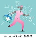 medical emergency | Shutterstock .eps vector #661907827