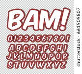 creative high detail comic font.... | Shutterstock .eps vector #661909807