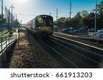 railroad train at train... | Shutterstock . vector #661913203
