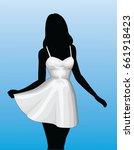 girl in sun dress is an...   Shutterstock . vector #661918423