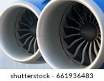 two modern jet engines close up ... | Shutterstock . vector #661936483