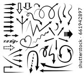 isolated vector hand drawn... | Shutterstock .eps vector #661942897