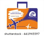 summer travel and tourism... | Shutterstock .eps vector #661945597