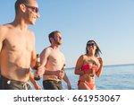 group of friends millennials... | Shutterstock . vector #661953067