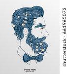 indie men  | Shutterstock .eps vector #661965073