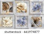 Canvas Flower Tiles Design...