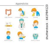 appendicitis symptoms outline... | Shutterstock .eps vector #661984123