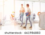 full length of businessmen... | Shutterstock . vector #661986883