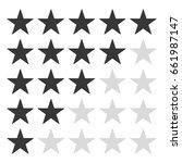 star rating icon vector eps10.   Shutterstock .eps vector #661987147