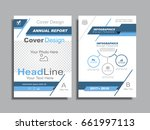 design brochure layout with... | Shutterstock .eps vector #661997113