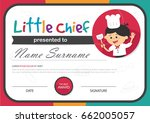 little chief kids certificate... | Shutterstock .eps vector #662005057