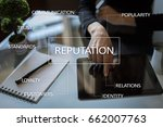 reputation and customer... | Shutterstock . vector #662007763