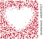 red hearts on a white background | Shutterstock .eps vector #662019217