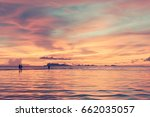 Panoramic Dramatic Sunset Sky...