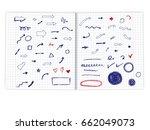 vector doodle arrows on a... | Shutterstock .eps vector #662049073