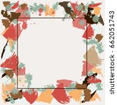frame for text with abstract...   Shutterstock .eps vector #662051743