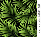 palm pattern. leaves of a... | Shutterstock .eps vector #662061907