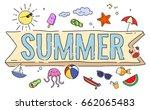summer postcard concepts  | Shutterstock . vector #662065483
